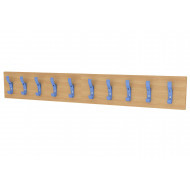 Straight Coat Rail With 10 Hooks