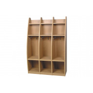 Triple Bay Coat And Lunch Box Storage Unit