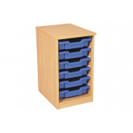 Premium Single Column Tray Storage Unit With 6 Shallow Trays