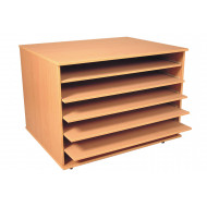 A1 Paper Storage Unit With 5 Shelves