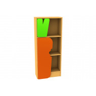 Living Planet Tall Bookcase With Carrot Feature Door