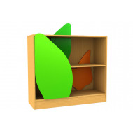 Living Planet Low Bookcase With Leaf Feature Doors