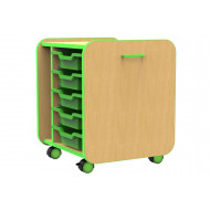 Beam Single Pull Out Storage Unit With 5 Trays