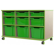 Beam Variety Tray Storage Unit With 3 Shallow, 3 Deep And 3 Extra Deep Trays
