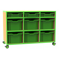 Beam Variety Tray Storage Unit With 3 Shallow And 6 Extra Deep Trays