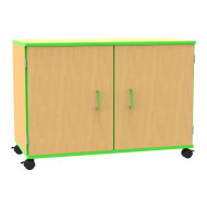 Beam double bay mobile storage cupboard
