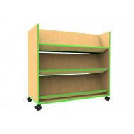 Beam Mobile Book Trolley With Angled Shelves