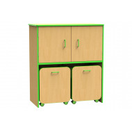 Beam Double Bay Docking Unit With Upper Cupboard