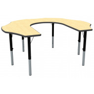 Teachers Flower Shaped Height Adjustable Classroom Table