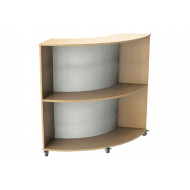 Nucleus Curve Single Sided Mobile Convex Bookcase