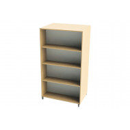 Nucleus Curve Double Sided Mobile Straight Bookcase