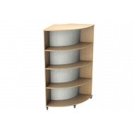Nucleus Curve Double Sided Mobile Convex Bookcase