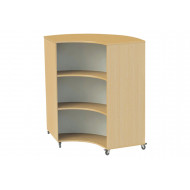 Nucleus Curve Double Sided Mobile Concave Bookcase
