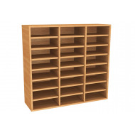 Wall Mounted Pigeon Hole Unit With 24 Compartments