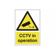 CCTV In Operation Polycarbonate Sign