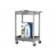 Plastic Multi-Purpose Trolleys With 2 Storage Trays (150kg Capacity)