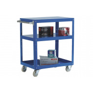 Reversible Tray And Shelf Trolley With 3 Shelves (150kg Capacity)