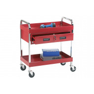 Tool Trolley With 2 Shelves And 1 Drawer (125kg Capacity)