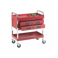 Tool Trolley With 2 Shelves And 2 Drawers (125kg Capacity)