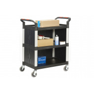 Proplaz 3 Shelf Trolley With Plastic Sides (150kg Capacity)