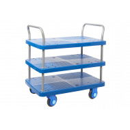 Proplaz Super Silent Three Tier Trolley (300kg Capacity)
