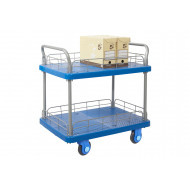 Proplaz Super Silent Two Tier Trolley With Wire Surround (300kg Capacity)