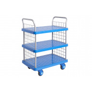 Proplaz Super Silent Three Tier Trolley With Mesh Ends (300kg Capacity)