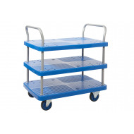 Proplaz Blue Three Tier Trolley (300kg Capacity)