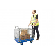 Proplaz Blue Security Truck With Hinged Lid (300kg Capacity)
