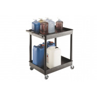 Plastic Multi Purpose Trolley With 2 Shelves (175kg Capacity)