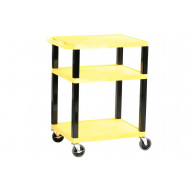 Open Service Trolley With Coloured Shelves (90kg Capacity)