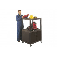 Large Multi-Purpose Trolley With Cupboard (150kg Capacity)