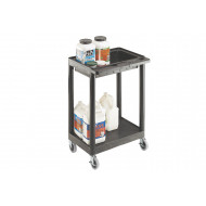 Plastic Multi Purpose Trolley With 2 Shelves (150kg Capacity)