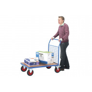 Fort Plywood Platform Truck With Single Mesh End (500kg Capacity)