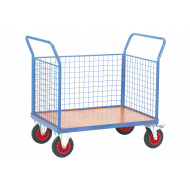 Fort Plywood Platform Truck With 3 Mesh Sides (500kg Capacity)