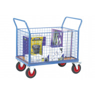 Fort Plywood Platform Truck With 4 Mesh Sides (500kg Capacity)