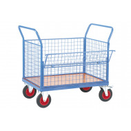 Fort Plywood Platform Truck With Drop Mesh Side (500kg Capacity)