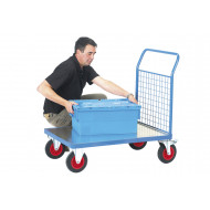 Fort Galvanized Platform Truck With Single Mesh End (500Kg Capacity)