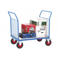 Fort Galvanized Platform Truck With 2 Mesh Ends (500kg Capacity)