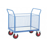 Fort Galvanized Platform Truck With 4 Mesh Sides (500kg Capacity)