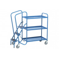 Fort Standard Order Picking Trolley With 3 Steel Trays (250kg Capacity)