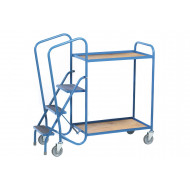 Fort Standard Order Picking Trolley With 2 Plywood Trays (250Kg Capacity)