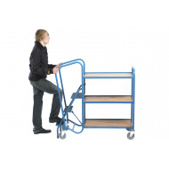 Fort Standard Order Picking Trolley With 3 Plywood Trays (250kg Capacity)