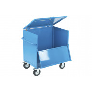 Solid security trolley with timber deck (350kg capacity)