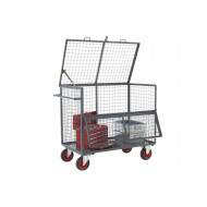 Mesh Security Box Trolley (500kg Capacity)
