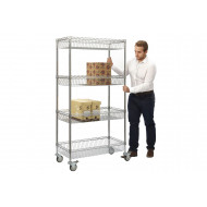 Chrome Wire Mesh Trolley