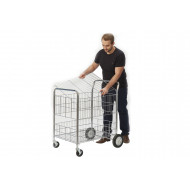 Chrome Plated Wire Tray Trolley (120kg Capacity)