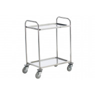 Stainless Steel Trolley With 2 Shelves (100kg Capacity)