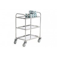 Stainless Steel Mobile Trolley With 3 Shelves (100kg Capacity)