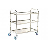 Stainless Steel Shelf Trolley With 3 Shelves (100kg Capacity)